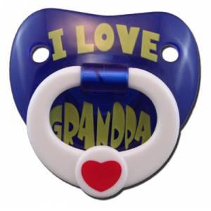 Chupetes Dientes - Chupete Amo al Abuelo (I Love Granda) - I Love Grandpa Pacifier Billy Bob