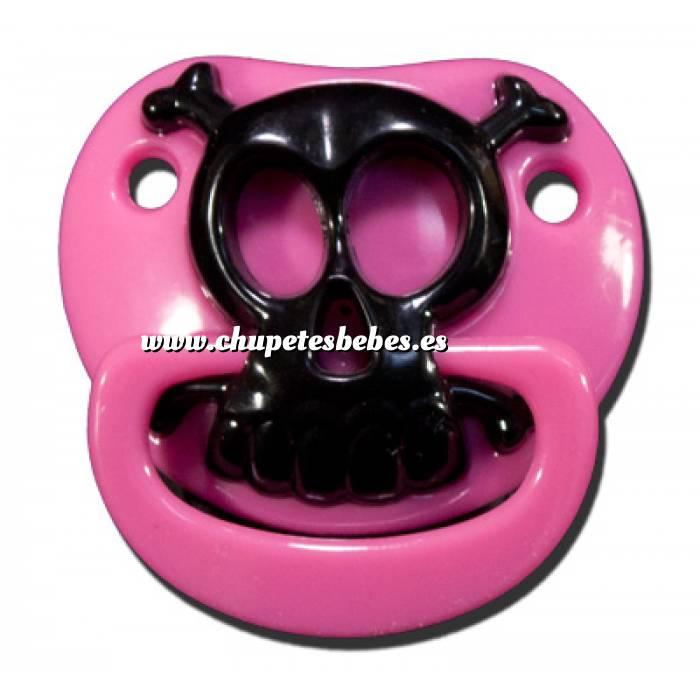 Imagen Chupetes Dientes Chupete Calavera Rosa - Pink Skull Pacifier Billy Bob