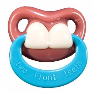 Chupetes Dientes - Chupete �ajai con Anilla - Two Front Teeth Pacifier Billy Bob w/Ring